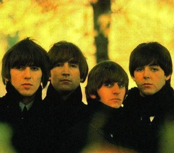 On which Beatles album cover does this image appear? 
