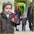 What is the name of Tim Burton and Helena Bonham Carter's son that Johnny is godfather to?