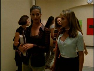 "When Cordy tells Buffy the kwis for her to be populair and Cordy says ""James S?"" what does Buffy reply back?"