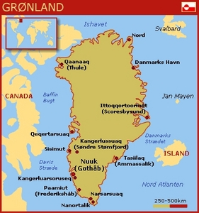 Danish Greenland map. Nuuk, also called Godthåb in Danish, is the capital of Greenland.