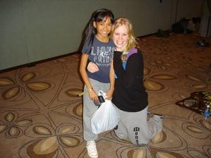 lil bigs posing with dancer lura edwards