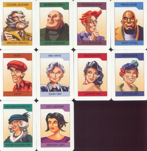 Clue DVD cards