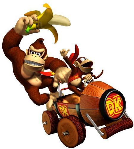 Donkey Kong and Diddy Kong