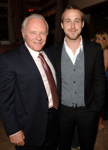 Sir Anthony Hopkins with Ryan Gosling