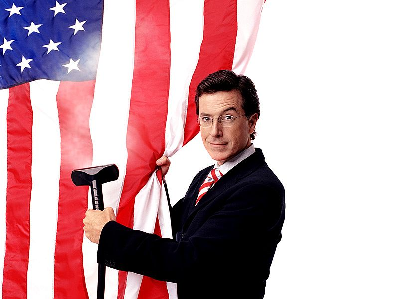 Stephen Colbert Steaming Flag