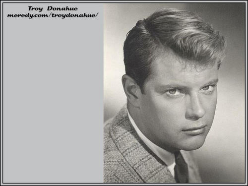 Troy Donahue w'paper