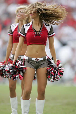 a Cheerleader with hair