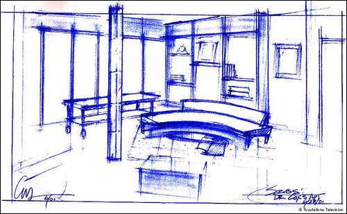 Sketches of the set