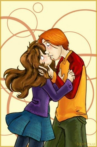 Ron and Hermione Ciuman