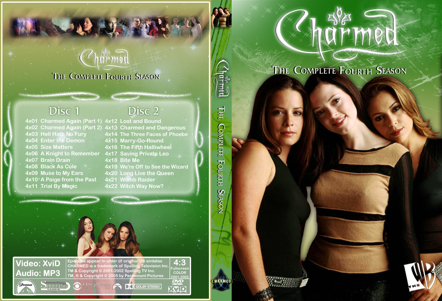 Charmed Season 4 Dvd Cover Made By Chibiboi