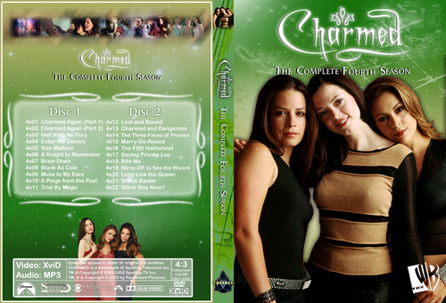 Charmed Season 4 Dvd Cover Made sejak Chibiboi