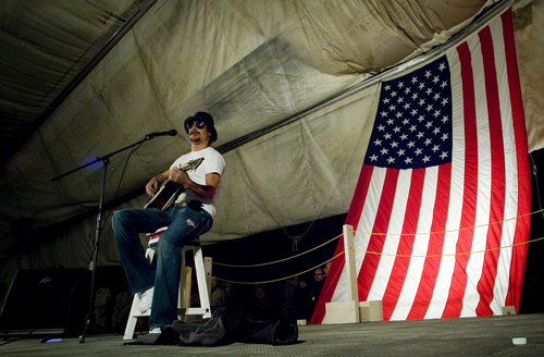 Kid Rock Performing For The Troops