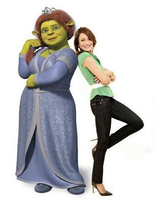 Princess Fiona and Cameron Diaz