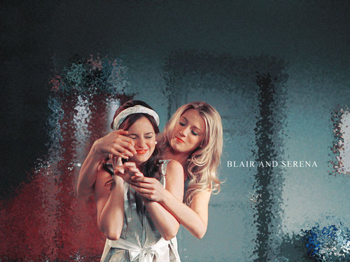 GG kertas dinding - Blair and Serena