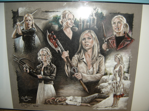 Buffy framed artwork