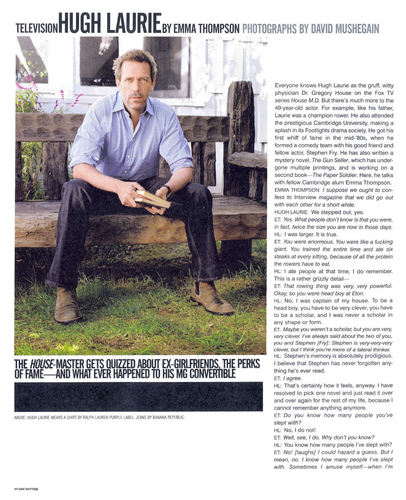Hugh Laurie Interview Part One