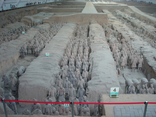 Terracotta Warriors and घोड़े