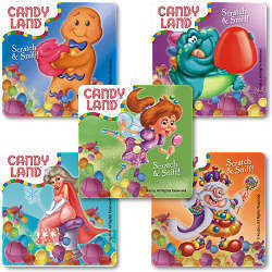 Candy Land Scratch and Sniff Stickers