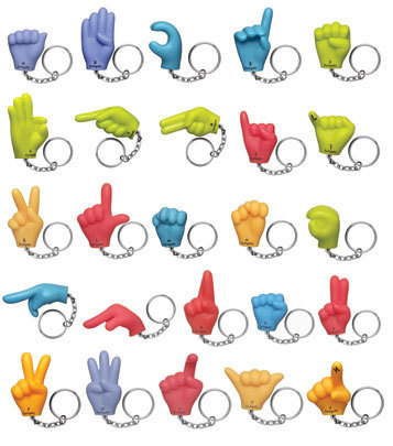 Sign Language Keychains