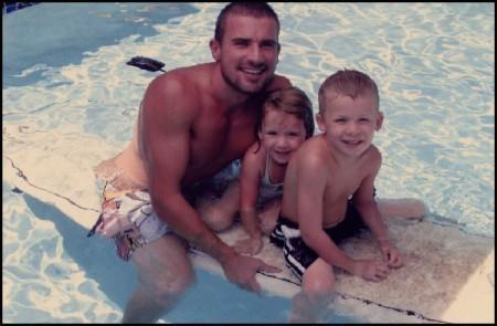 Dominic Purcell and kids