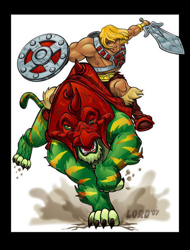 He-Man + Battle Cat