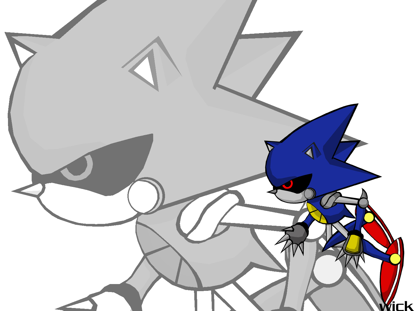 Metal Sonic Wallpaper Sonic Cd Wallpaper 2194256 Fanpop