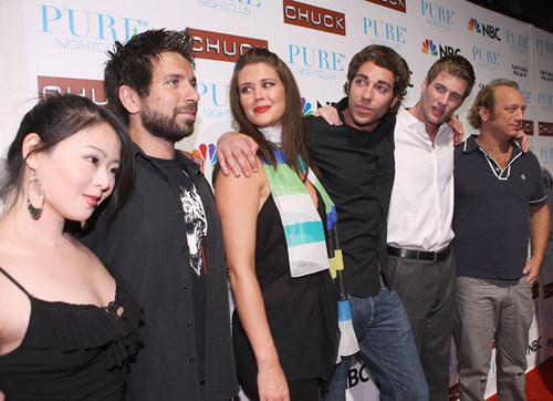 Cast of 'Chuck' @ the 'Chuck' Season Two Launch Party @ Pure Nightclub