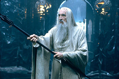 Christopher Lee as Saruman in LOTR