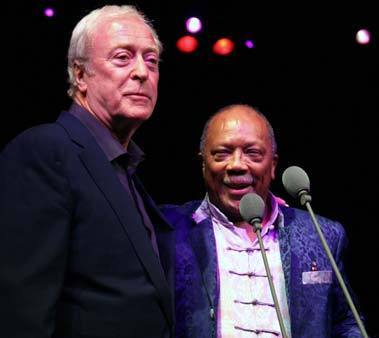 Michael Caine and Quincy Jones