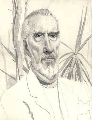 Christopher Lee drawing