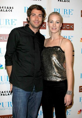 Zachary Levi and Yvonne Strahovski @ the 'Chuck' season two launch party @ Pure Nightclub