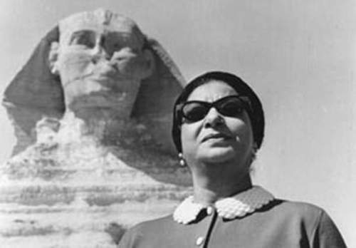 om kalthoum and sphinx