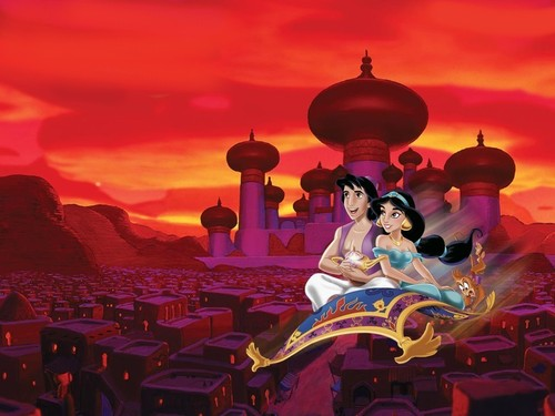 wallpaper for aladdin and jasmine