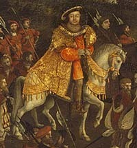 Detail of Henry VIII from The FIeld of Cloth of vàng Painting
