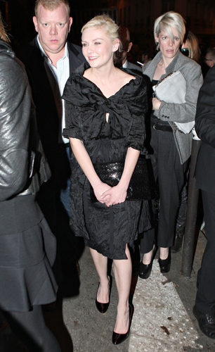 Kirsten attends Miu Miu fashion show