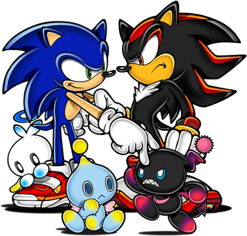sonic and shadow with chaos