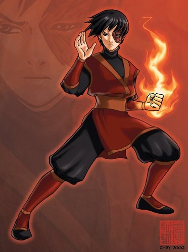 Zuko getting ready to fight